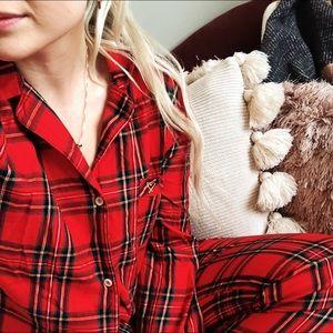 Victoria's Secret Red Plaid Christmas Pajamas